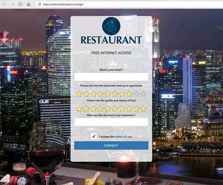 Cloud StartHotSpot Login page
