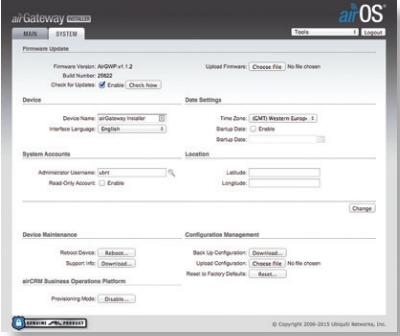 Ubiquiti router AirGateway setup