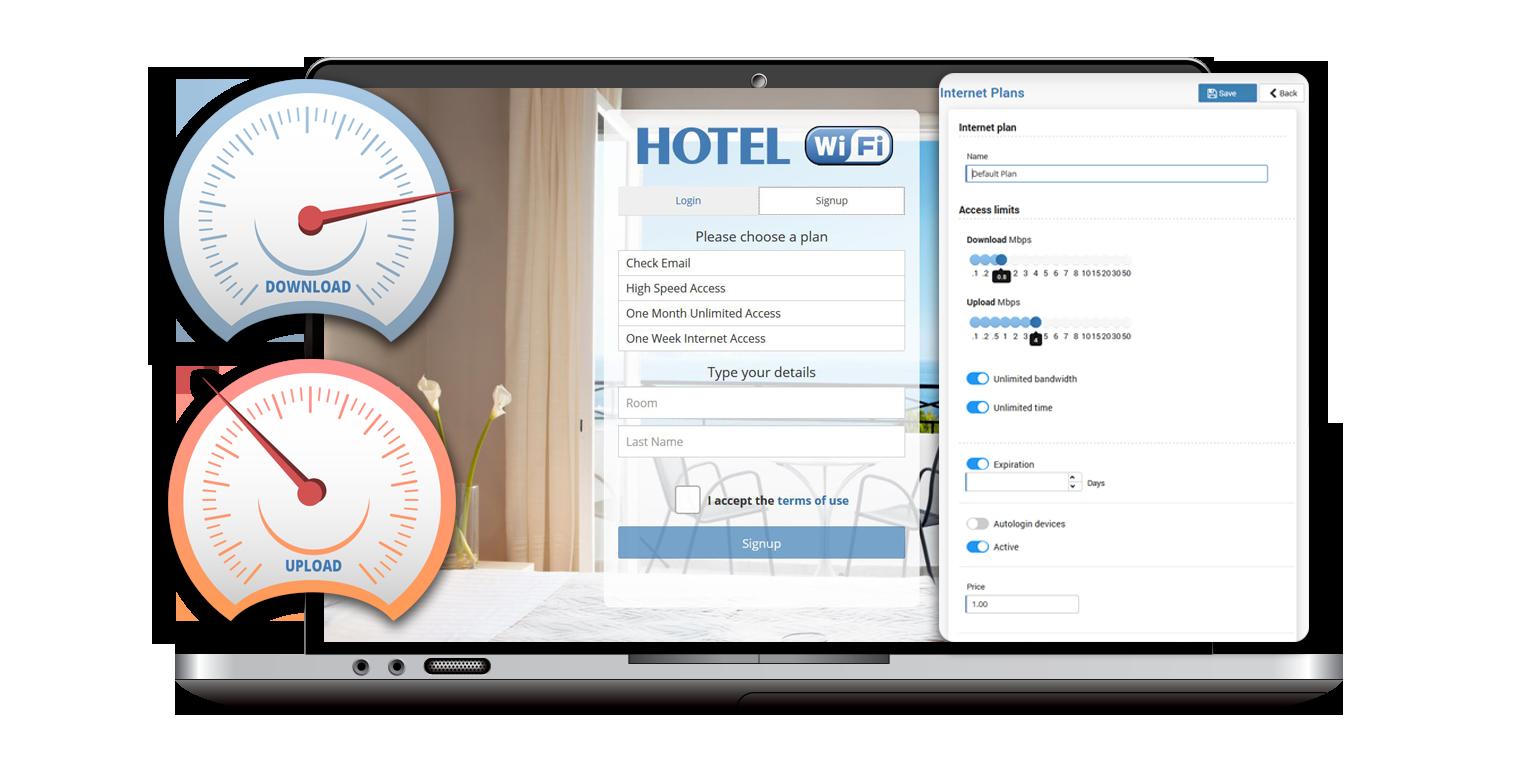 Hotel PMS integration I Start Hotspot Cloud WiFi software